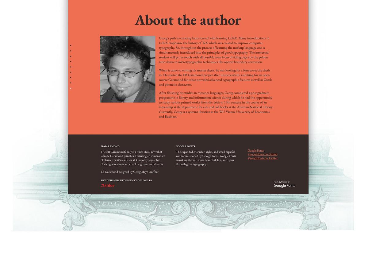 Ashler Design | EB Garamond minisite
